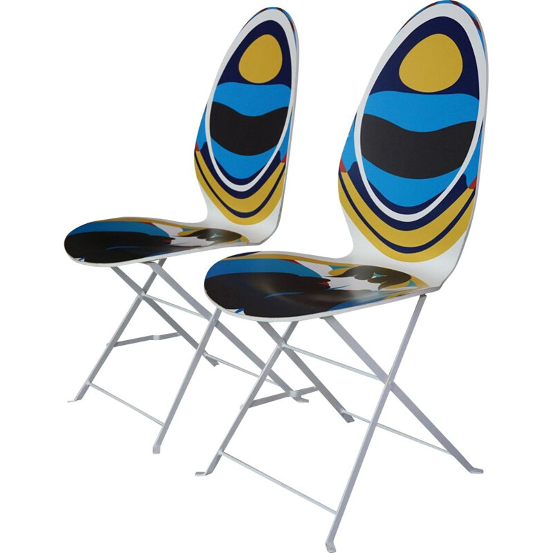 """Vintage set of 2 chairs """"Lune"""" by Christian Lacroix"""