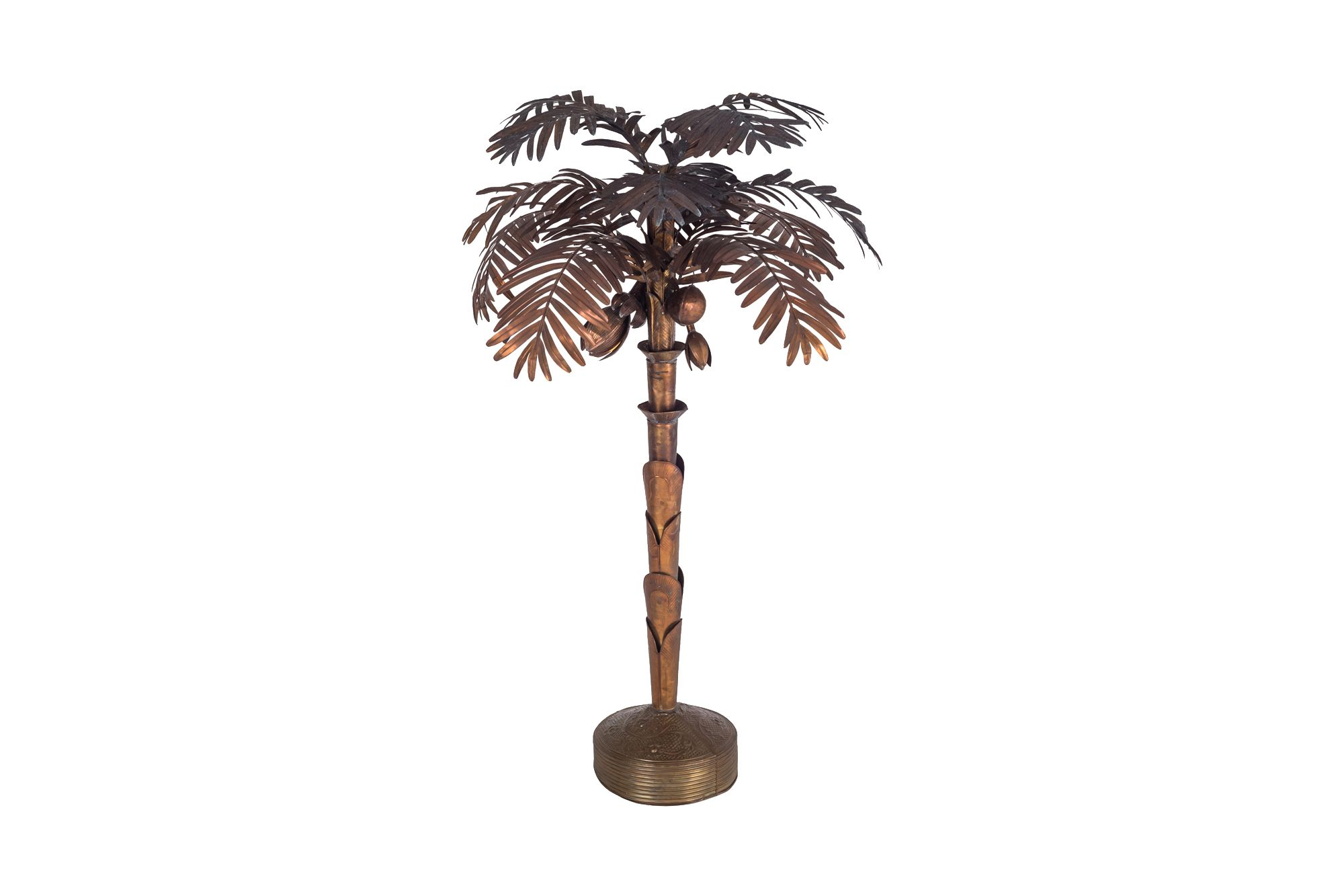 Vintage Palm Tree Floor Lamp In Copper Previous Next
