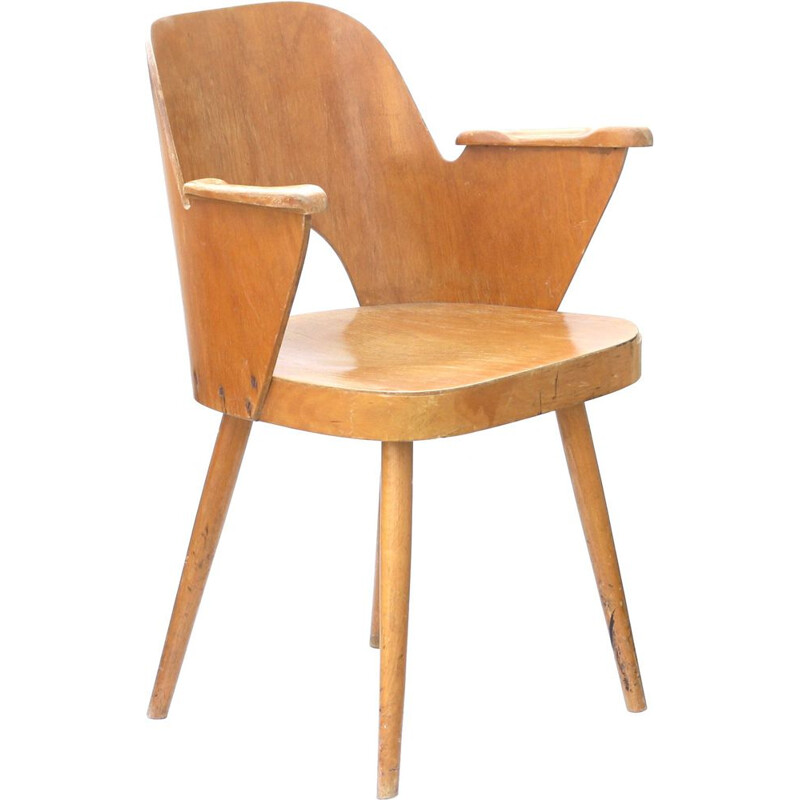 Vintage armchair in wood by TON