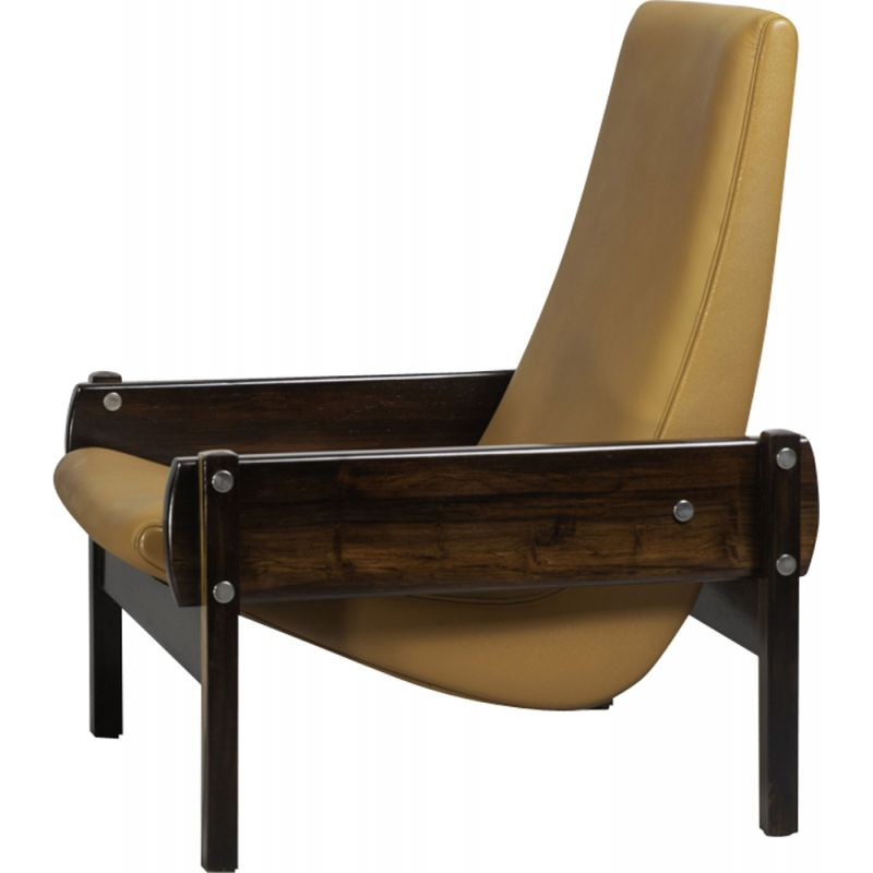 "Vintage Brazilian armchair ""Vronka"" by Sergio Rodrigues"