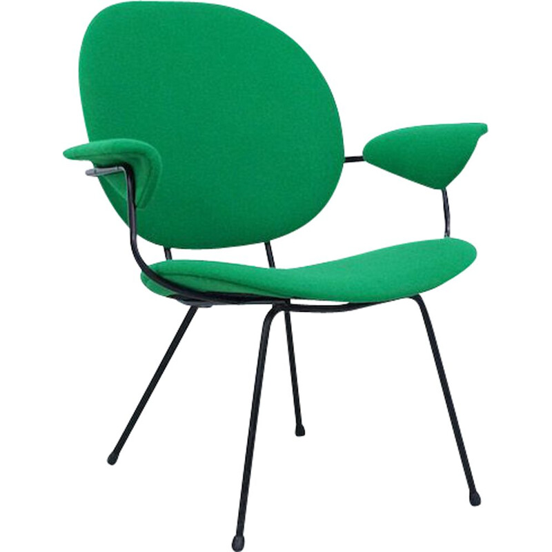 Vintage green armchair 302 by WH Gispen for Kembo