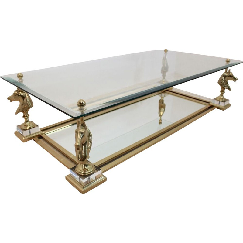 "Vintage coffee table ""Cheval"" by Maison Charles"