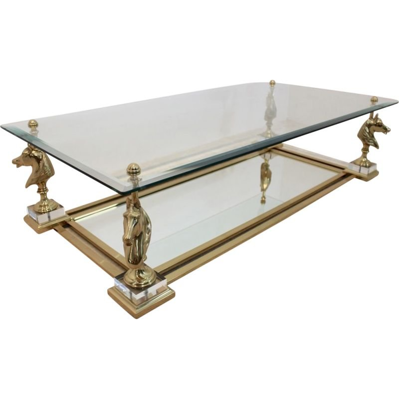 Vintage Coffee Table Cheval By Maison Charles Design Market