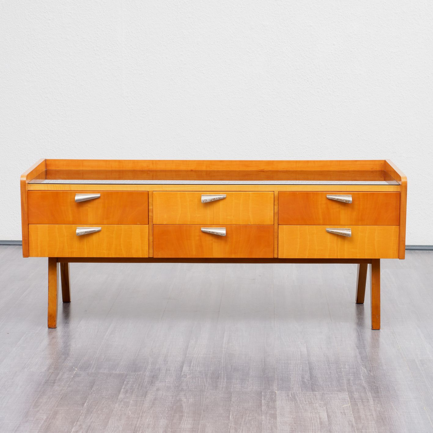 Vintage Bicolored Dresser In Cherrywood And Maple Design Market