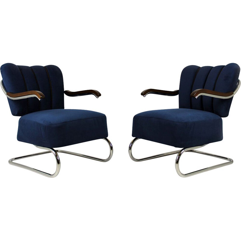 Set of 2 vintage armchairs by Mücke Melder