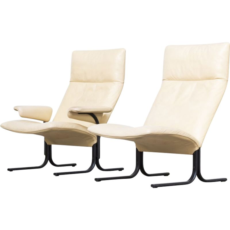 2 Lounge Fauteuils.Vintage Set Of 2 Lounge Chairs Ds 2030 Hans Eichenberger For De Sede