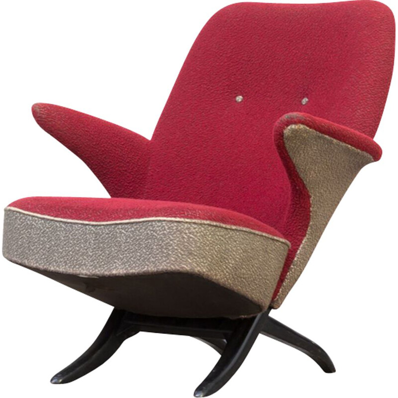 "Vintage ""penguin"" lounge chair by Theo Ruth for Artifort"