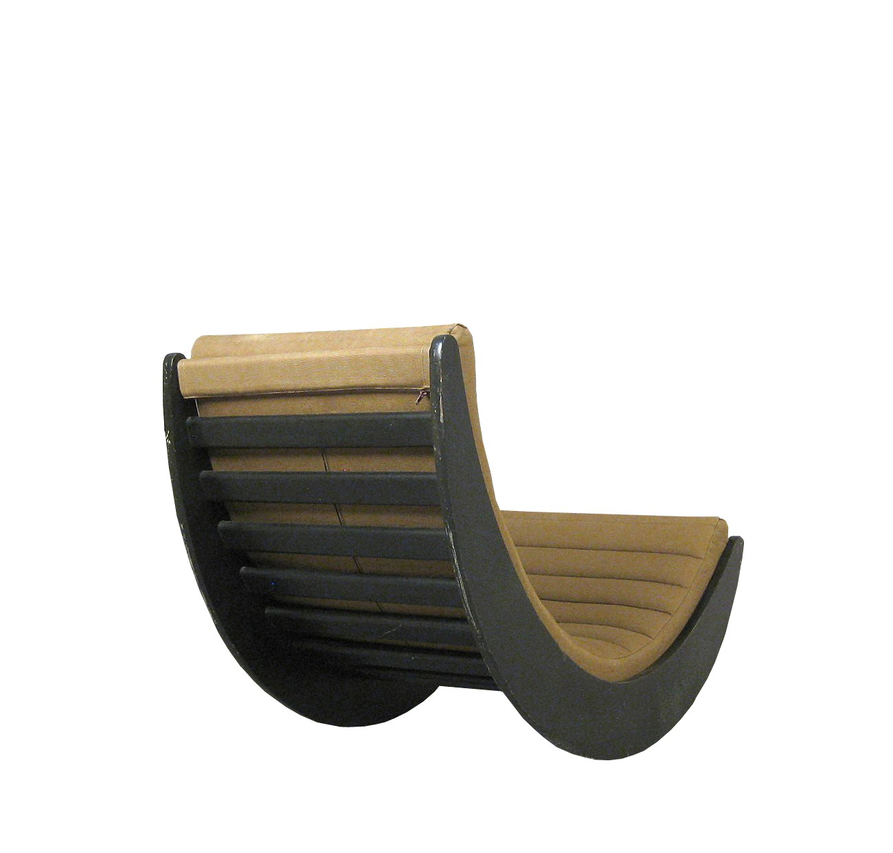 Rocking Chair In Wood Foam And Fabric Verner Panton