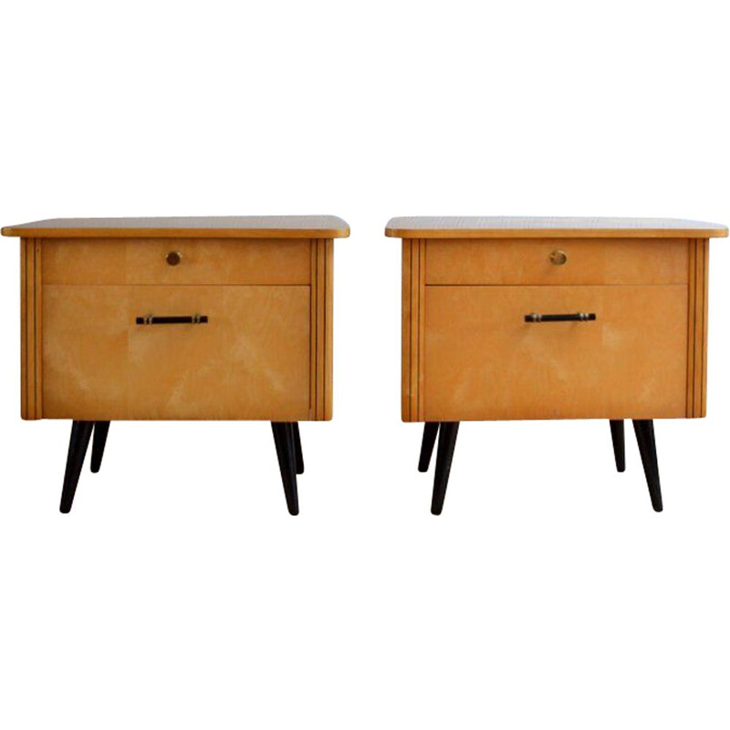 Vintage 2 bedisde tables in lacquered wood