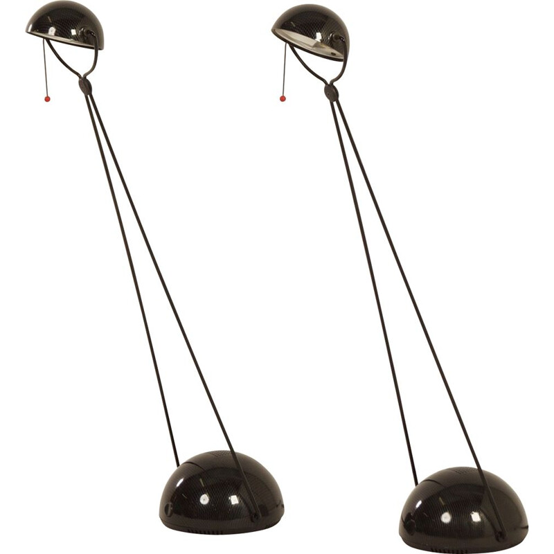 Vintage set of 2 Meridiana desk lamps by Paolo Piva for for Stefano Cevoli