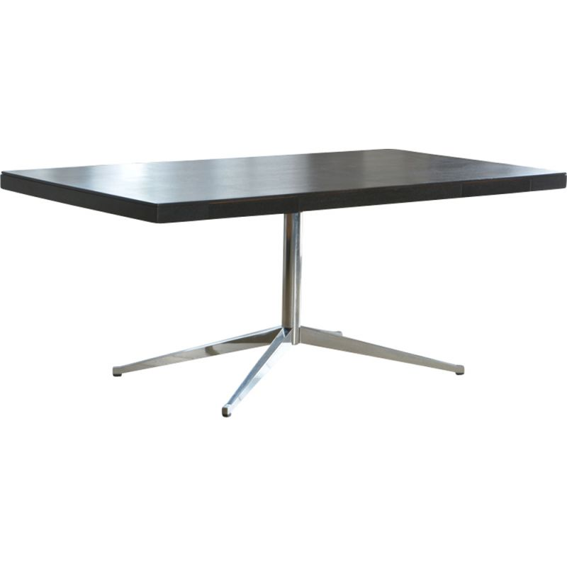 """Desk table black """"2485"""" by Florence Knoll for Knoll"""