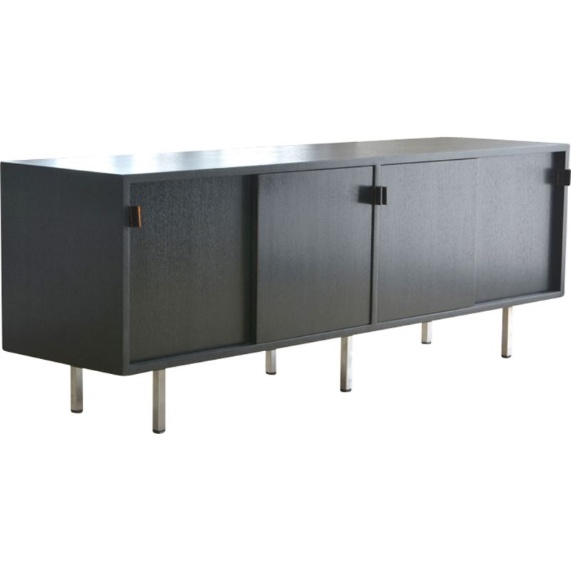 Black vintage sideboard by Florence Knoll for Knoll