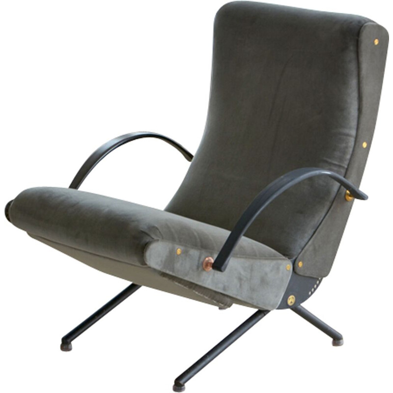 "Vintage ""P40"" armchair by Osvaldo glass for Tecno"