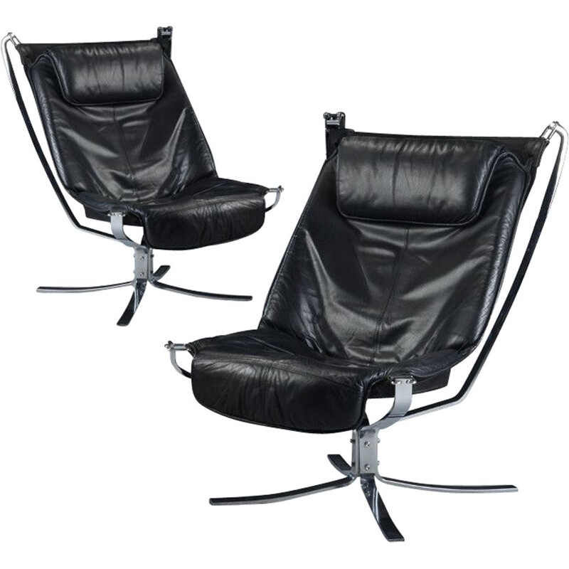 Set of 2 Vintage chairs of Falcon by Sigurd Ressell
