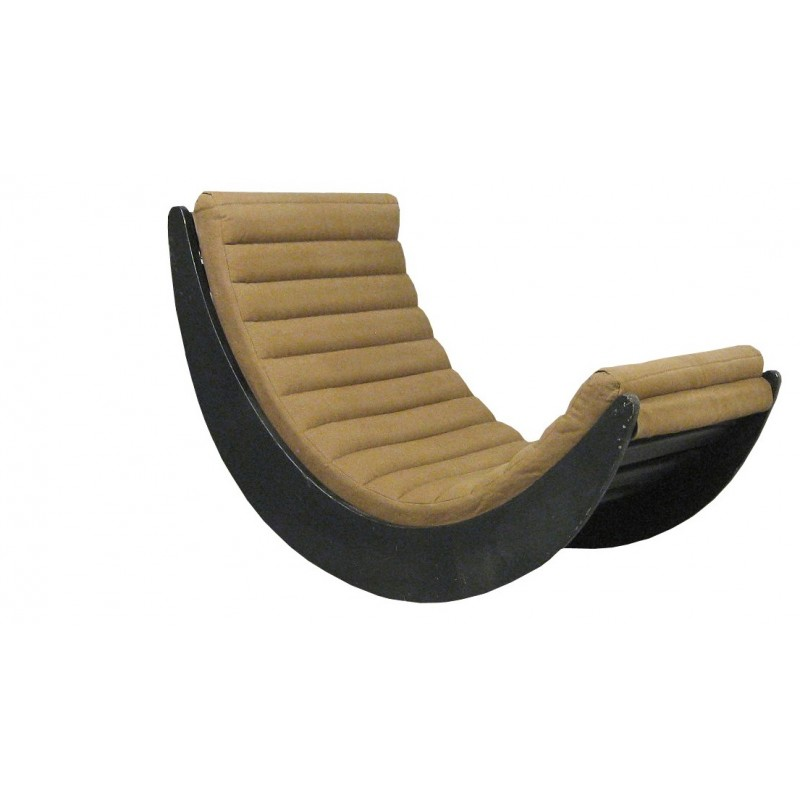 rocking chair in wood foam and fabric verner panton 1970s