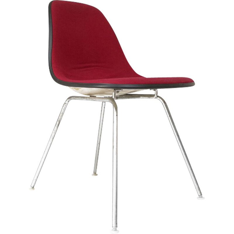 Vintage red chair DSX by Charles & Ray Eames for Herman Miller