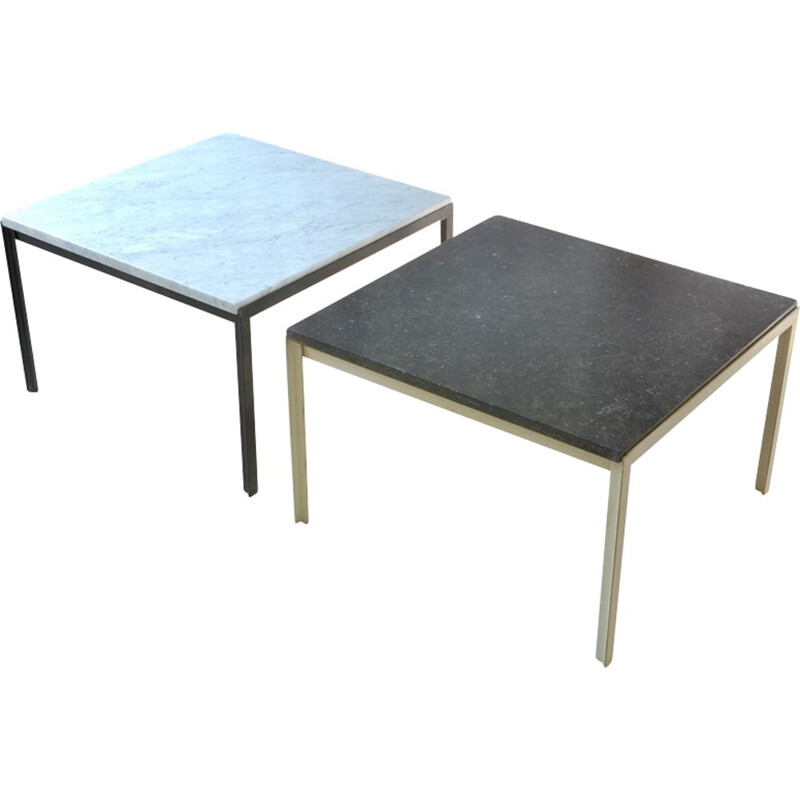 """Pair of  """"T-angle"""" low tables by Florence Knoll for Knoll International"""