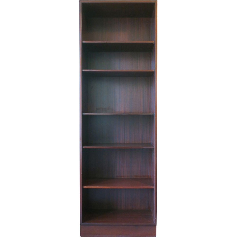 Poul Hundevad Danish Narrow Mahogany Bookshelf