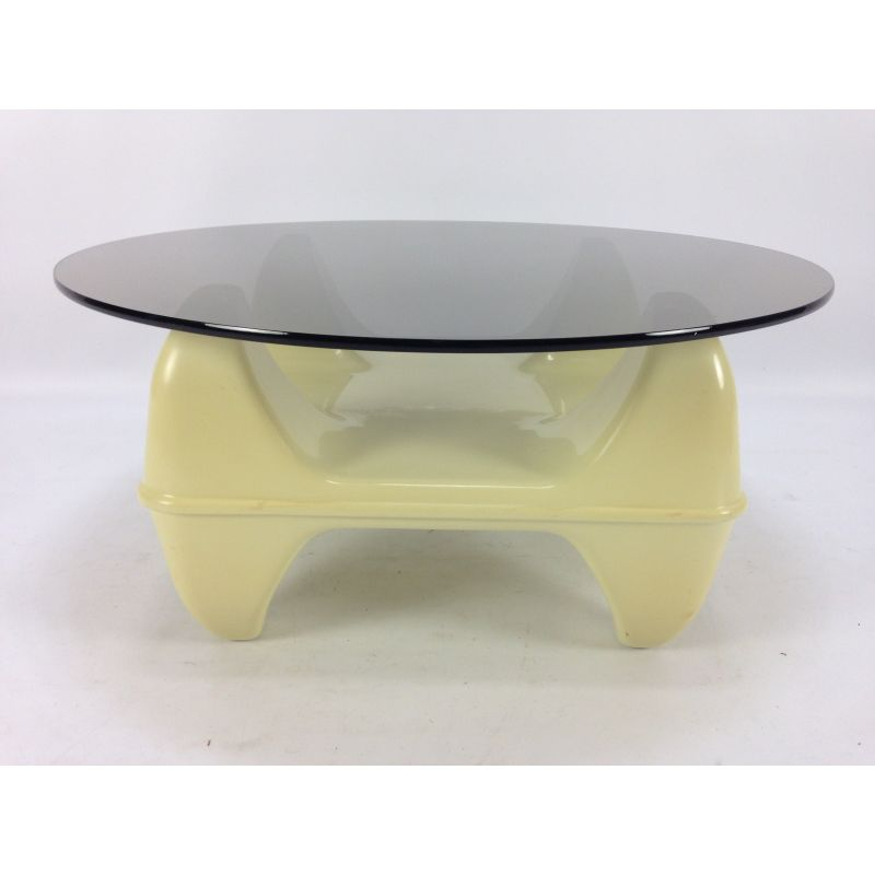 Super Vintage Italian Coffee Table In Plastic And Glass Interior Design Ideas Clesiryabchikinfo