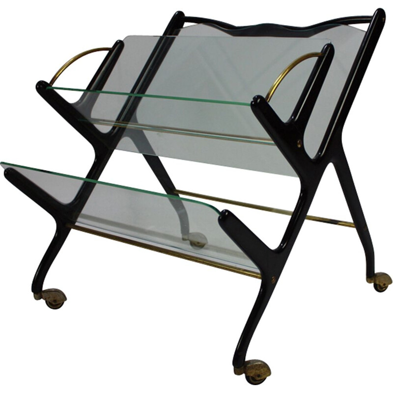 Vintage Italian magazine rack by Ico Parisi