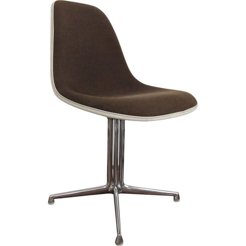 Vintage side shell fiberglass chair by Eames for Vitra