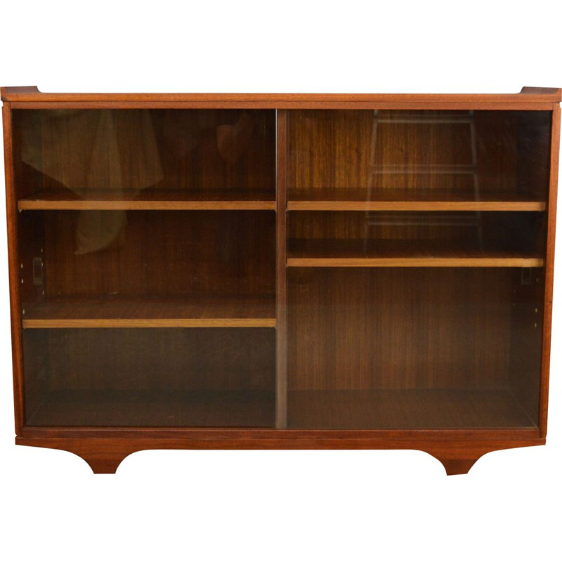 Vintage Teak and Glass Display Cabinet-Bookcase by Meredrew