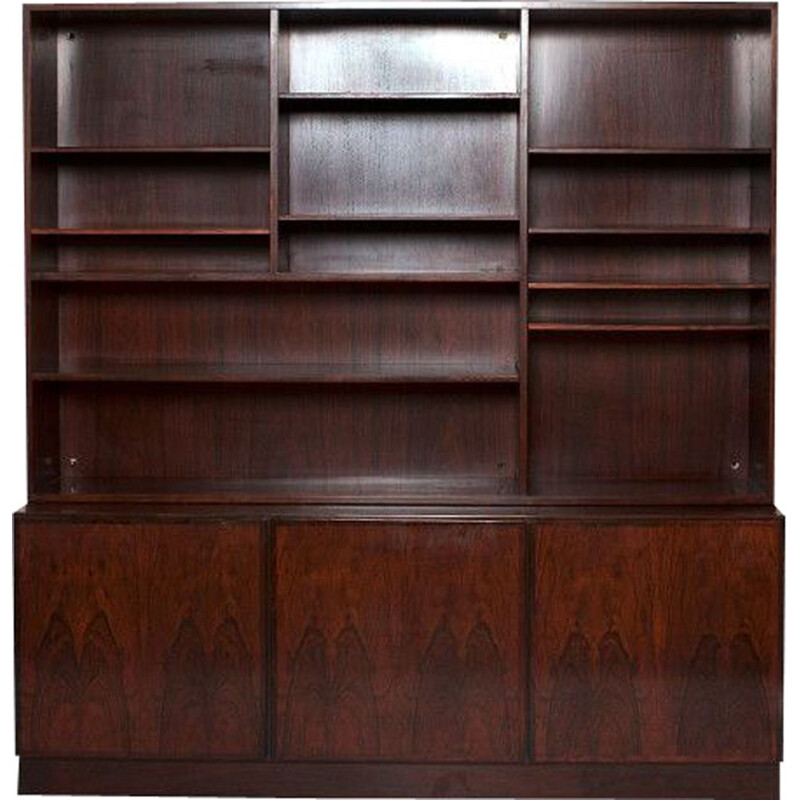 Vintage bookcase in rosewood 35 by Omann Jun