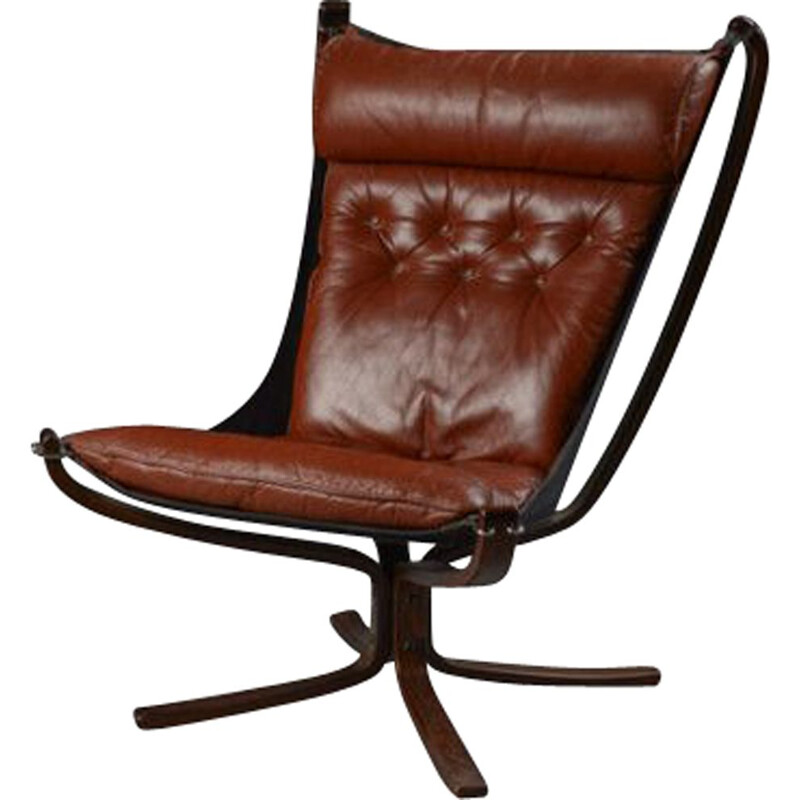 """Vintage """"Falcon"""" armchair by Sigurd Ressell"""