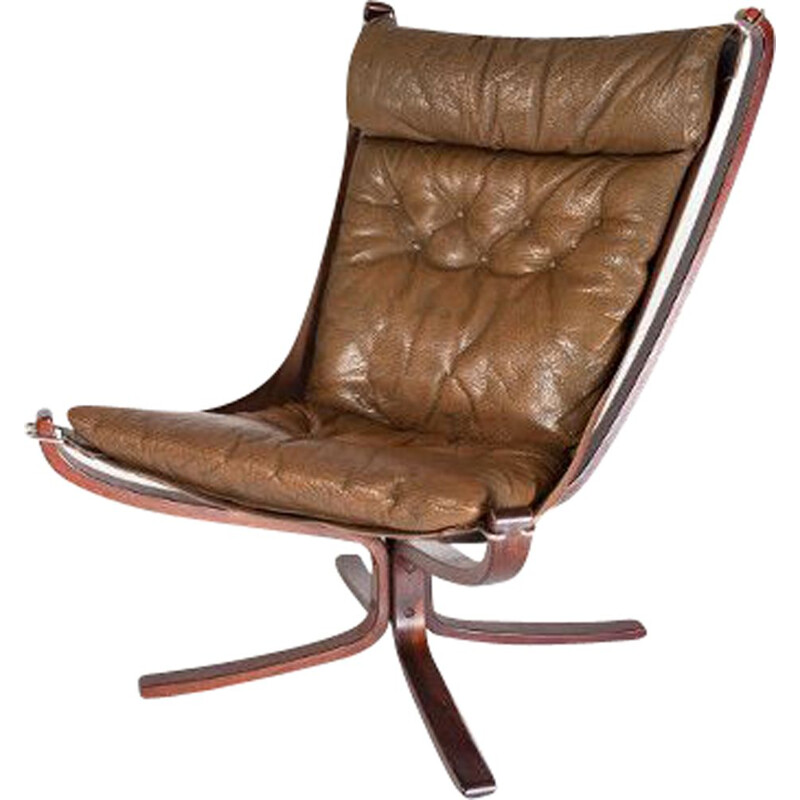 "Vintage ""Falcon"" leather armchair by Sigurd Ressell"