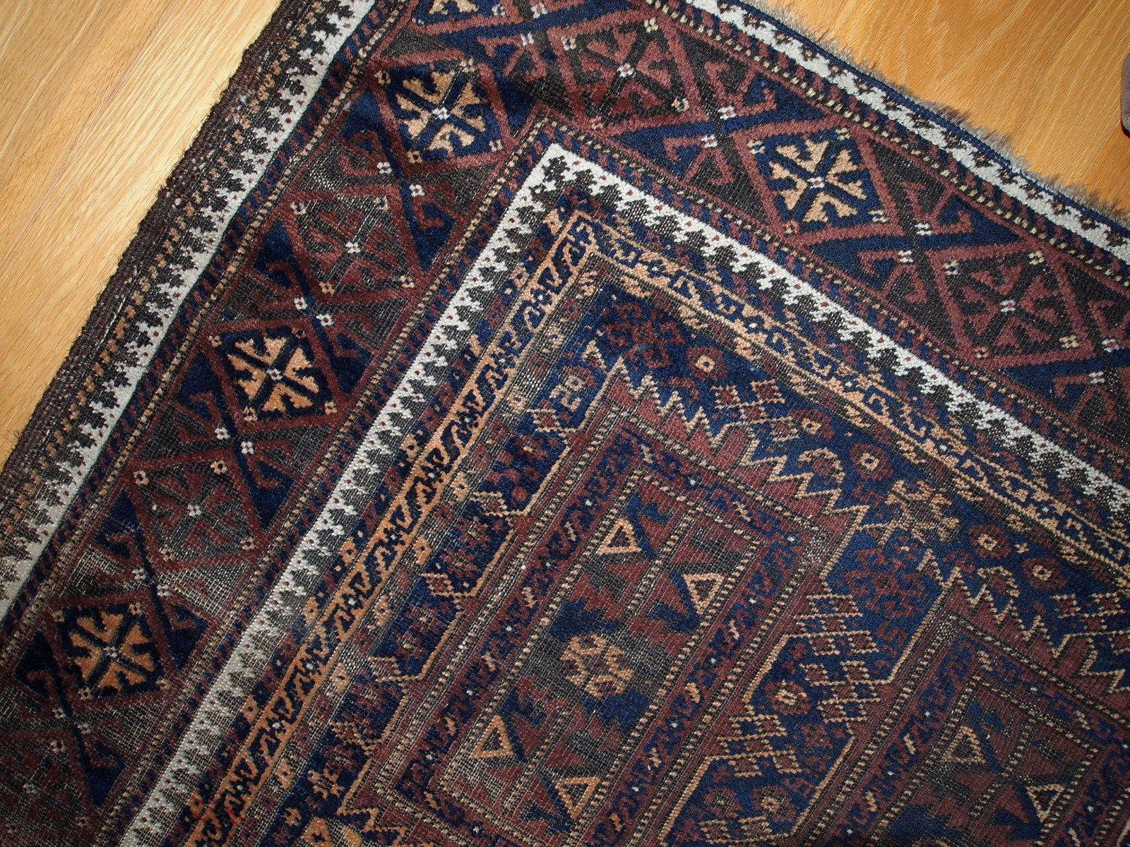 Vintage Afghan Baluch Rug Design Market