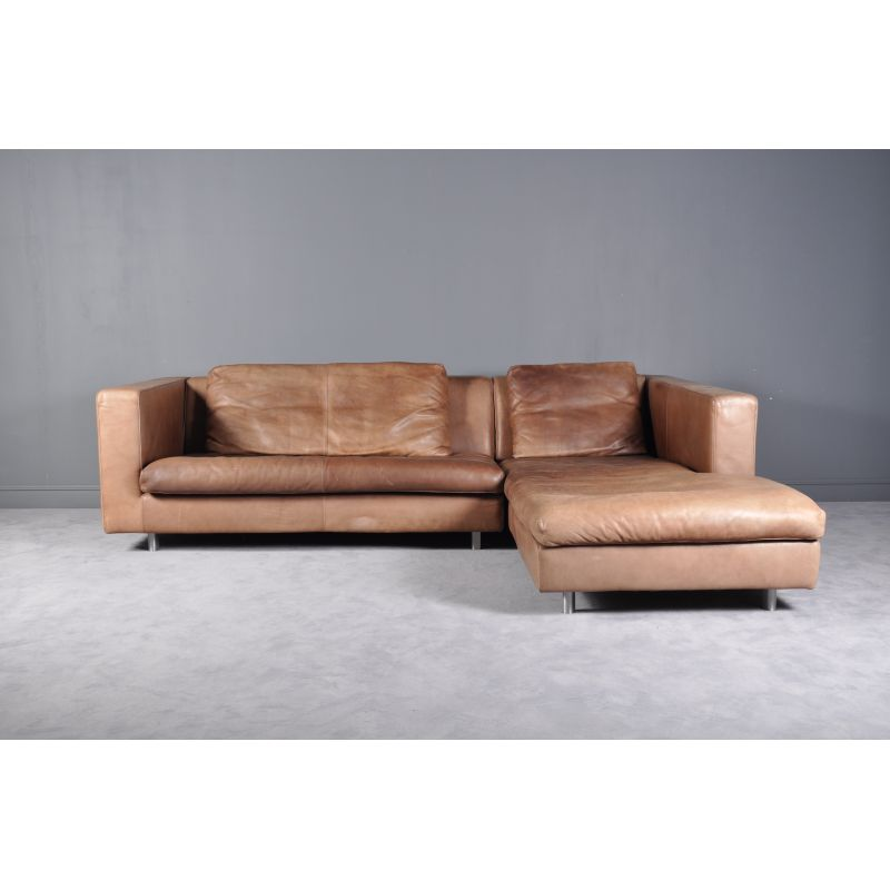 Fabulous Italian Vintage Sofa By Molinari Cognac Leather Gmtry Best Dining Table And Chair Ideas Images Gmtryco