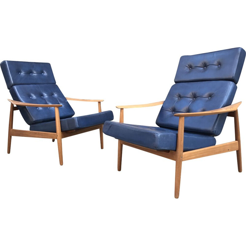"Pair of Chair ""F164"" by Arne Vodder for Sibast"
