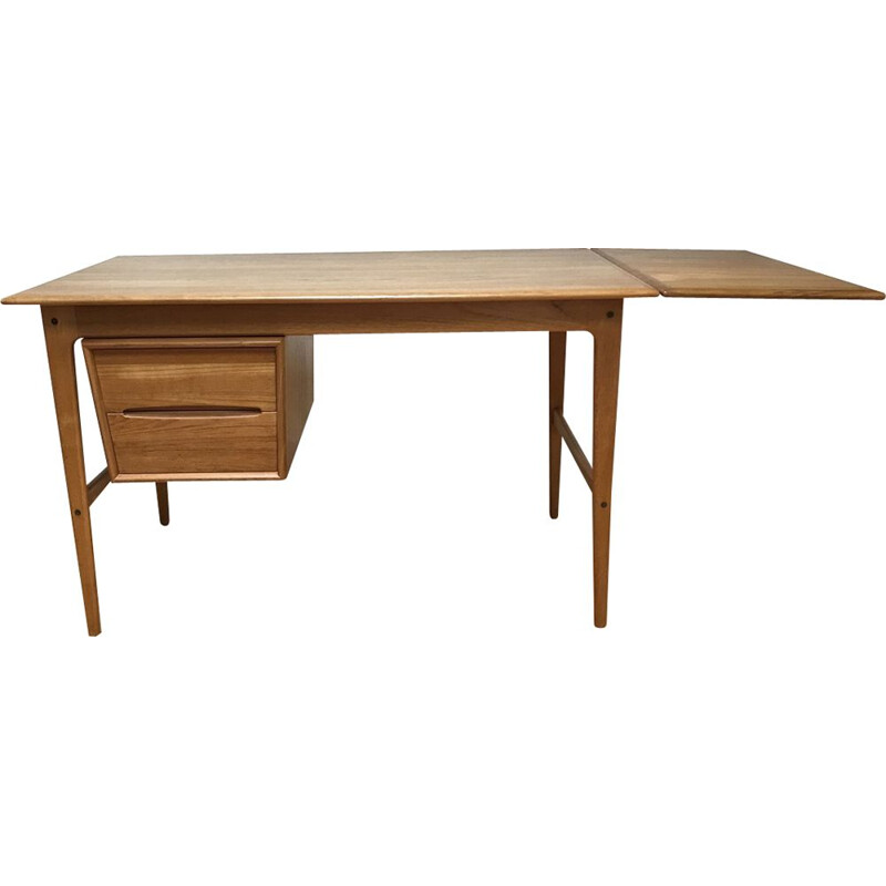 Vintage teak desk by Arne Vodder