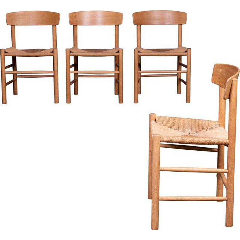 "Set of 4 chairs ""J39"" Borge Mogense in oak"