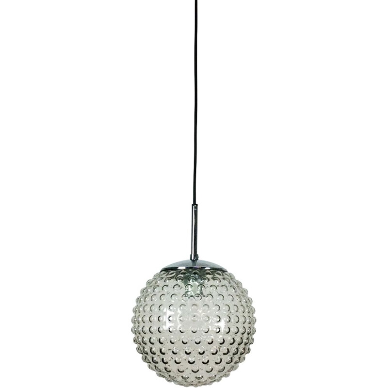 Vintage Glass Bubble Hanging Light by Motoko Ishi Rolf Krüger for Staff Lights