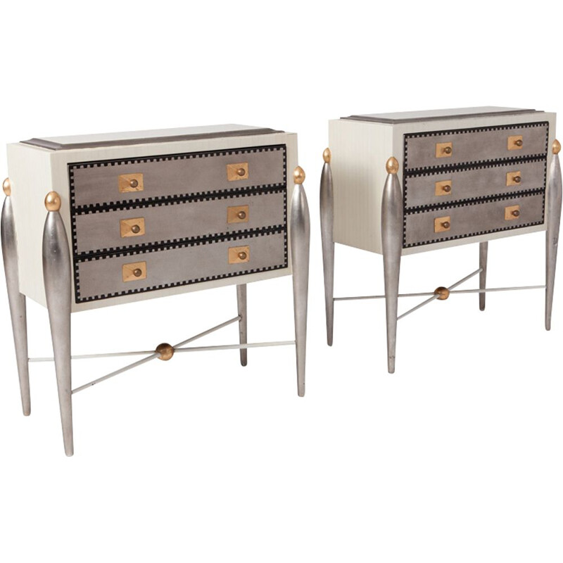 Hollywood Regency Glam Drawer Cabinets