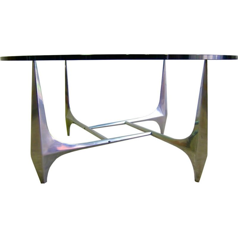Vintage sculptural coffee table by Ronald Schmitt for Knut Hesterberg