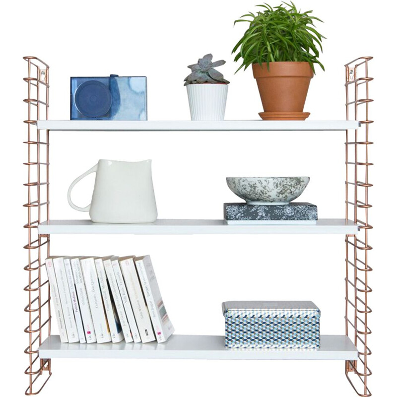 "White ""Tomado"" copper white shelf by Adrian Dekker"