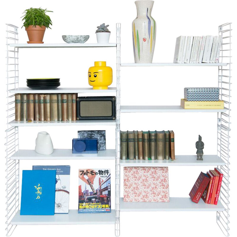 "White ""Tomado"" bookcase by Adrian Dekker"