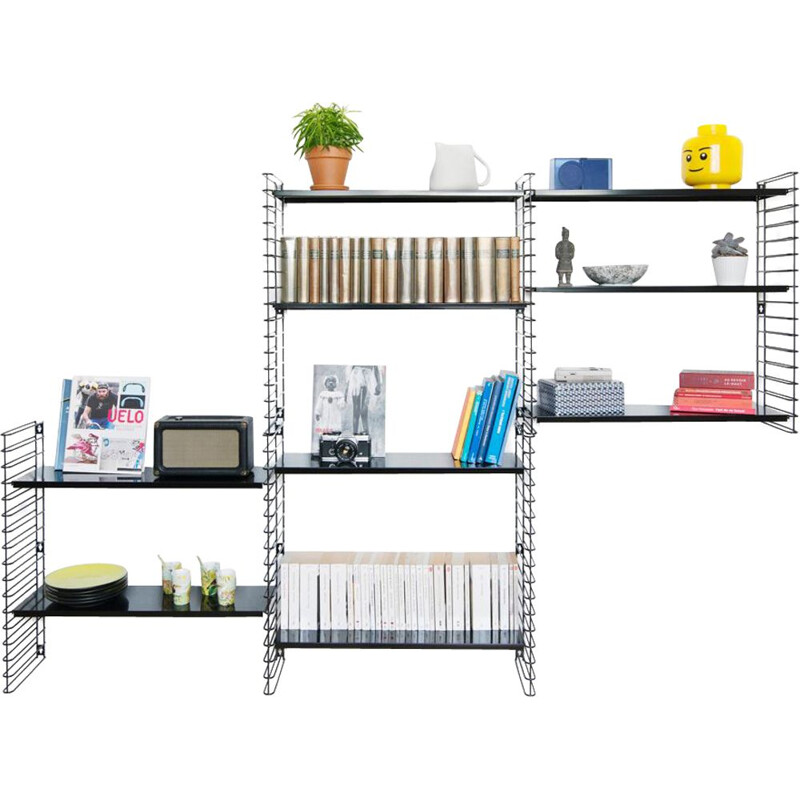 "Black ""Tomado"" bookcase by Adrian Dekker"