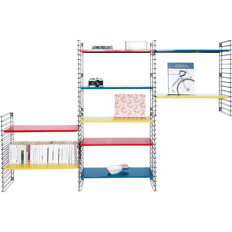 Multicolored bookcase by Adrian Dekker for Tomado