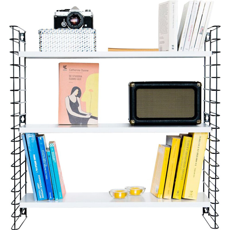 Black and white shelf system by Adrian Dekkker for Tomado