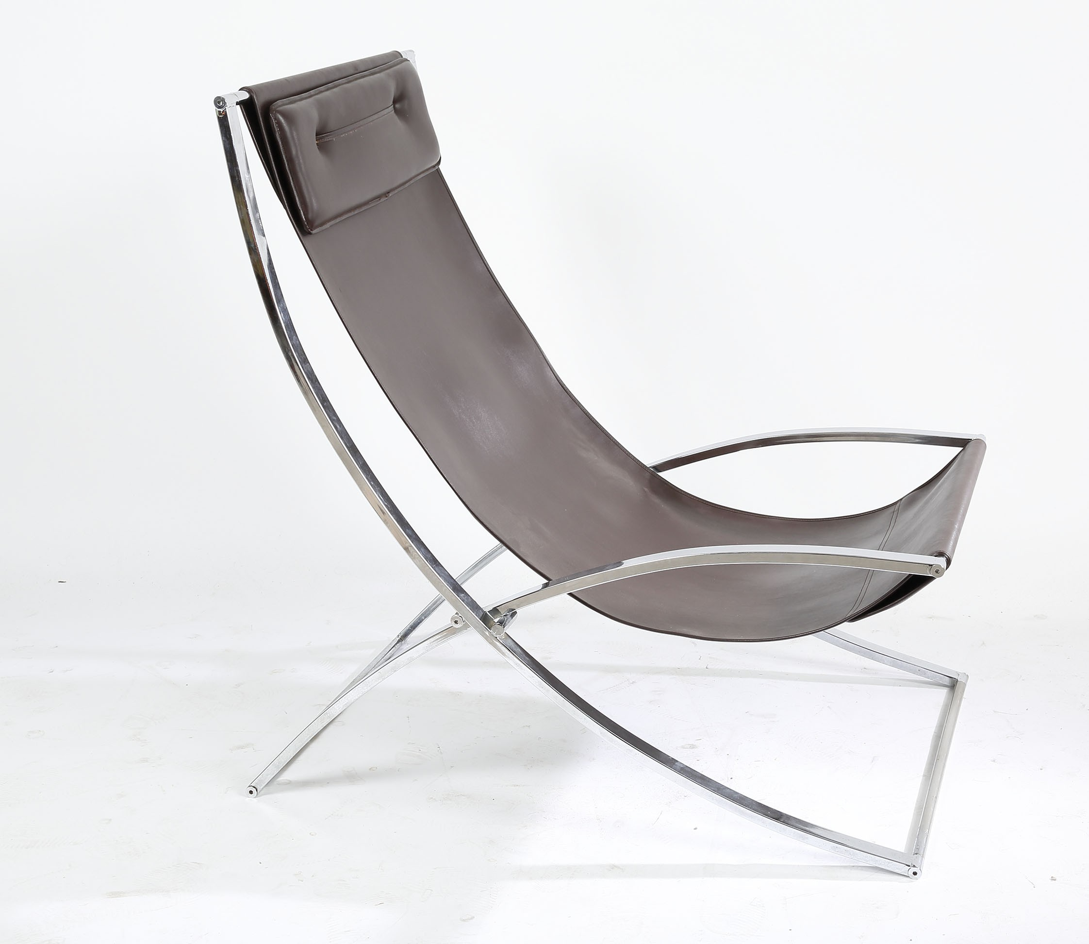 Chaise Longue Luisa in chrome metal, Marcell CUNEO - 1970s - Design ...
