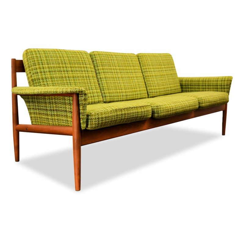 3-seater Vintage sofa in teak by Grete Jalk