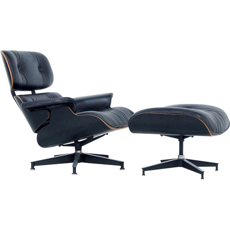 Vintage lounge chair and ottoman by Eames for Herman Miller