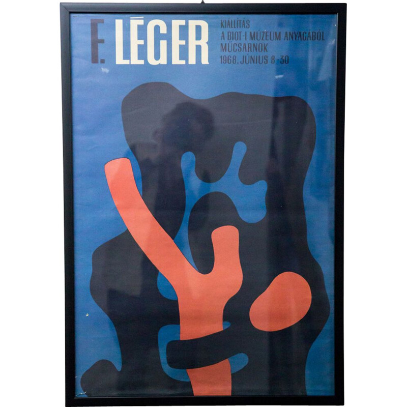 Vintage poster for art gallery Fernand Léger
