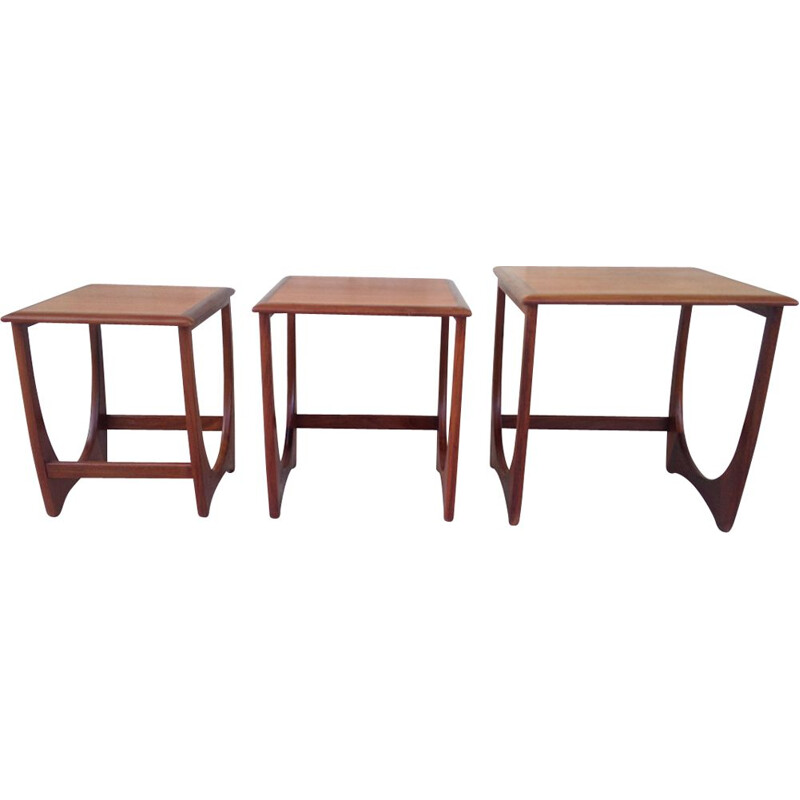 "Set of 3 vintage side tables ""Astro"" in teak by G plan"