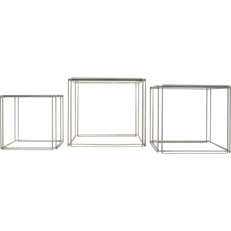 Set of 3 graphical Nesting Tables by Max Sauze for Atrow