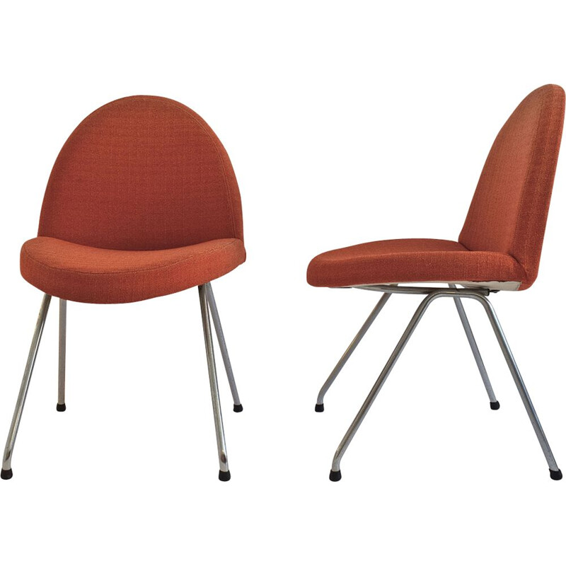 Set of 2 chairs 771 of Joseph-André Motte for Steiner