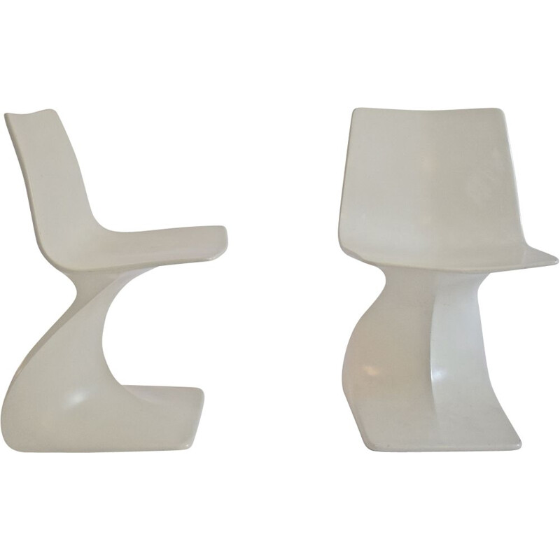 """Pair of chairs """"Naila"""" of Christian Adam for Newform"""